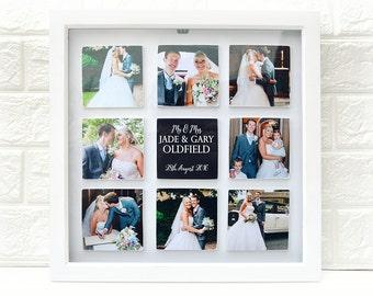 Nine Photo Tile Box Frame Your Own Photo's & Text