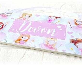 Personalised Fairy Children's Bedroom Name Plaque