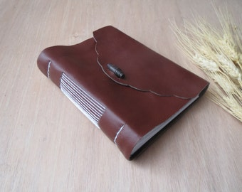 Brown Leather Journal | Leather Notebook | Blank Pages | Personalized Journal | Notebook Leather | Journal Leather |