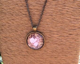 Bronze Heart Pendant Necklace