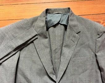 Vintage 50s Examplar by Haspel Gray Lightweight Two Piece Suit 42-44, 36x32