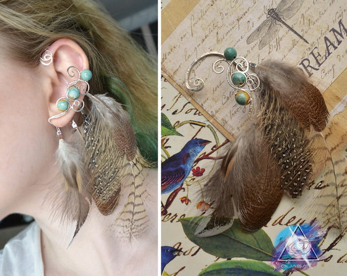 "Ear cuff ""Bird's forest"" 
