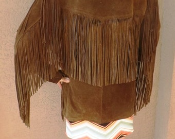 Great Schott Bros. Western Rancher Rust Suede Long Fringed Jacket Use Coupon Code newyearsale2017 For 15% Off