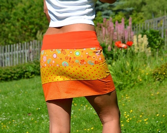 Mini skirt orange size 36 in orange