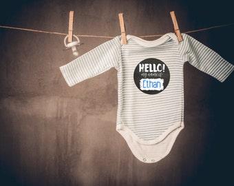 Chalk Month Stickers Baby Boy