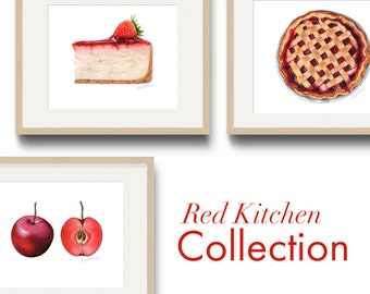 Red Kitchen Art Collection