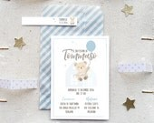 Printable Little Bear invitation  - Fully customizable digital card - Full digital party kit available  upon request