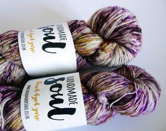 4ply, 4ply yarn, double knit yarn, dk yarn, handdyed in the UK with acid dyes, superwash wool and nylon. superwash polwarth
