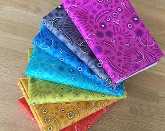 SUN PRINTS Rainbow Spectrum Fat Quarter Bundle by Alison Glass for Makower Fabrics