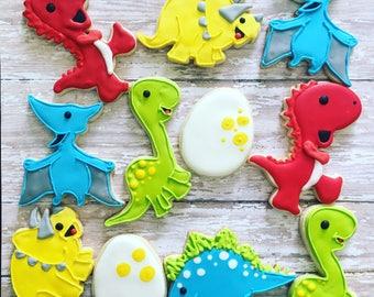 Dinosaurs party cookies sugar