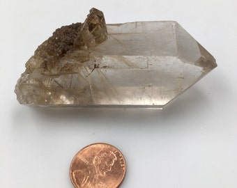 "Natural Rutile Quartz Specimen 3"" 92g rf0202-37 - Ships free in US!"