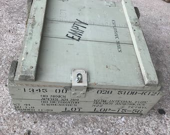 US Army Wooden Mine Crate PAINTED