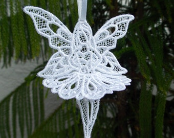 White FSL Lace Ballerina Angel Ornament ~ Christmas ~ Holiday ~ Gift ~ Wreath