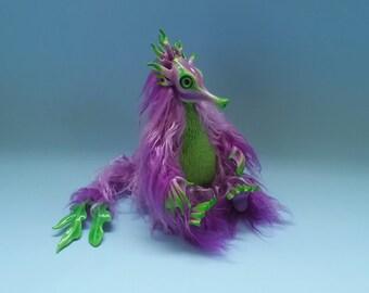 Coral Reef Fey (violet). Art Doll. Completely handmade