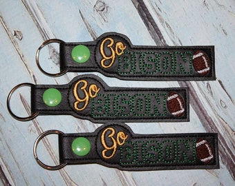 Go Bison - Football - Key Fob In The Hoop - DIGITAL Embroidery DESIGN
