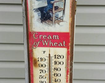 1964 Nabisco Cream of Wheat Thermometer Vintage Advertising
