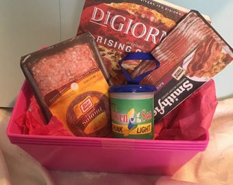 "Doll Accessories -Grocery Basket of Meats - for any 18"" Doll like American Girl/Springfield/Our Generation"