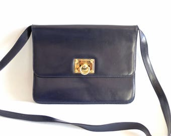 Mini bag, navy, Le Printemps, vintage
