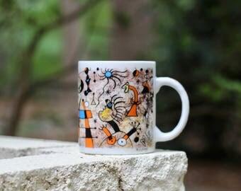 Vintage  Joan Miró The Escape Ladder Mug Chaleur Masters Collection / Surrealism Mug / Cubism Mug / Artist Gift / Miro Escape Ladder Mug