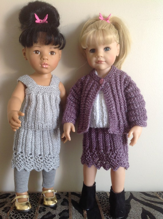 Knitting Patterns For Our Generation Dolls : Dolls clothes knitting pattern. 18/19 doll. Lace edged