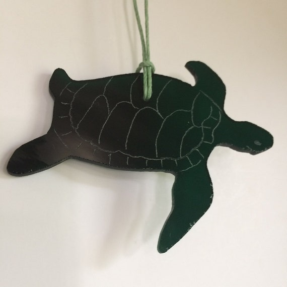 Honu Turtle Stained Glass Ornament Christmas Tree Ornament Made in Hawaii Deesigns by Harris
