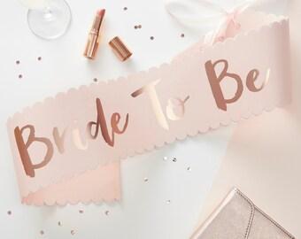 Pink & Rose Gold Bride To Be Sash, Hen Party Sash, Bride to Be Celebration, Sash, Pink Hen Party Sash, Bridal Sash, The Sweet Hostess