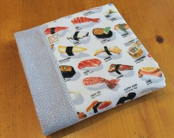 Sushi Baby Blanket, Japanese Baby Gift, Cotton Baby Swaddle, Personalized Baby Blanket, Cotton Flannel Swaddle, Sushi Baby Gift