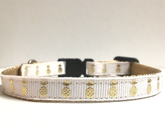 "3/8"" Gold Foil Pineapple collar"