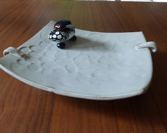 MCM Artisan Pottery Thumbprint Decorative Centrepiece Platter