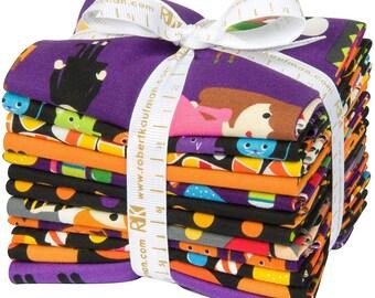 Pumpkin Fun 12 Fat Quarters Halloween Kaufman Fabrics~ Fast Shipping FQ705