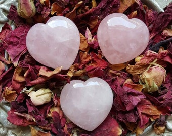 Rose Quartz Puff Heart - Rose Quartz Heart - Rose Quartz - Rose Quartz Crystal - Heart Stone - Rose Quartz Heart