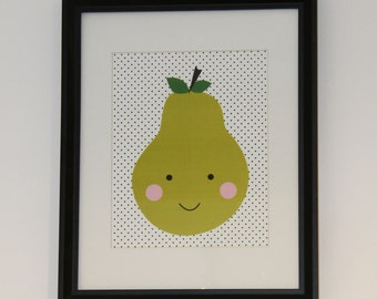 Happy Face Pear - Artwork