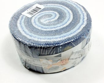 Moda Jelly Roll Fabric Strips True Blue by Zen Chic 2.5 x 42-inch 1620JR