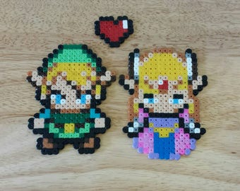 Zelda and Link Hama Beads