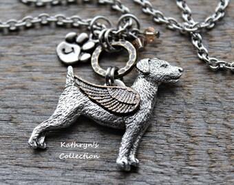 Jack Russell Terrier Memorial Necklace, Jack Russell Angel, Jack Russell Jewelry, Jack Russell Mom, Pet Memorial Jewelry