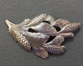 Vintage Sterling Brooch Pin Sinned Beau.- Very Eyecatching!  Free shipping