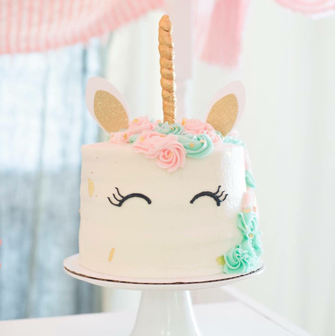 Unicorn Cake Topper unicorn horn unicorn party edible