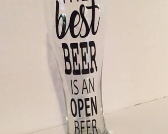 The Best Beer Pilsner 16oz Beer Glass