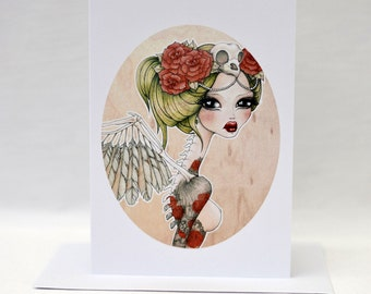 "Greeting card - reproduction of my original illustration ""Rae"""