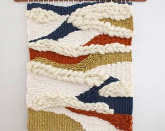 Custom Made To Order Large Wall Weaving, Wall Hanging, Woven Wall Art, Custom Woven Wall Hanging, Woven Wall Tapestry, Modern Weaving