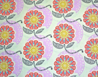 FIELD STUDY by Anna Maria Horner ~ Fabric ~ Cell Structure in Pink ~ Floral ~ Flowers ~ Americana ~ Nature ~ Quilting ~ Sewing ~ Half yard