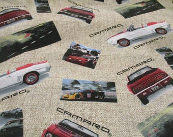 Cars Flannel Fabric Etsy