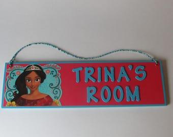 Elena of Avalor Personalized Room Decor Sign - Elena of Avalor Name Sign - Elena of Avalor Bedroom Decor