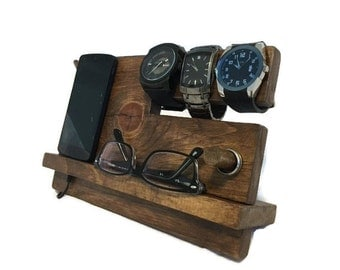 Valet Stand, bedside organizer - The Phone Docking Station 1.0 - Criss Cross edition