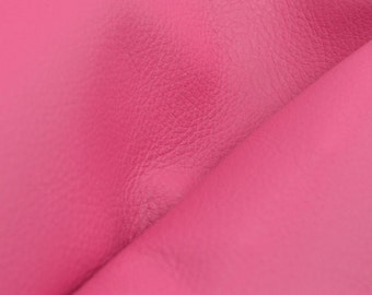 "Imperial Posh Pink ""Signature""  Leather Cow Hide 12"" x 12"" Pre-Cut 2 1/2-3 oz flat grain DE-52161 (Sec. 8,Shelf 3,D)"