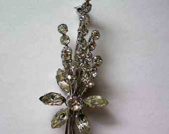 Austrian Crystal Floral Brooch - 2534