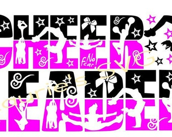 Cheer LEADER cheerleader 3 file- svg,png,jpg and  silhouette