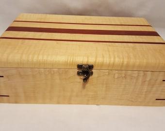 Wood Gun Box, Curley Maple and Padauk