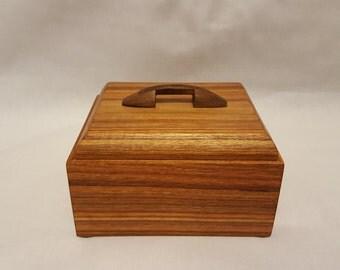 Wood Box, Canary wood and Black Walnut