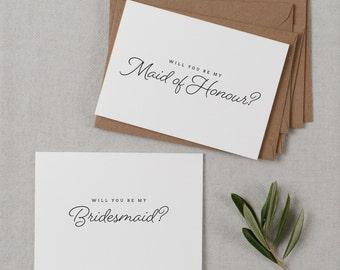 6 x Will You Be My Bridesmaid Cards, Bridesmaid Proposal, Bridesmaid Invitation, Maid of Honor Card, Bridesmaid Card, Wedding Invitations K1
